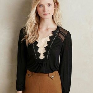MEADOW RUE Anthropologie Nima Top Lace